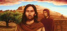 """Larry Ogan:  Thinking about how the Savior is depicted in art. Since no one can know for certain what Jesus looked like, I decided to paint how I emotionally felt about Him with no concern for historical accuracy. Only thinking in terms of His nature as a real person and the Divine Christ.  """"After the Temptation"""""""