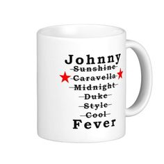 KRW Johnny Fever KRP Coffee Mugs