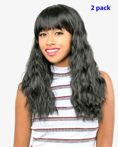 (2 Pack) ABELLE Synthetic Long Wavy Wig with Bangkok-Red #Ad , #AFF, #Synthetic#Long#Pack Little Girls Coats, Scarlett, Half Wigs, Kids Coats, Hairline, Natural Looks, Synthetic Hair, Hair Type, Long Hair Styles