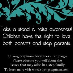 to love their Step-parent too.without feeling guilty or like they are betraying the bio parent Step Parenting, Parenting Books, Parenting Quotes, Step Parents Quotes, Parallel Parenting, Fathers Rights, I Love My Son, Awareness Campaign, Coping Skills