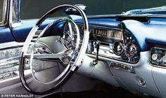 The dash of a 1957 Cadillac Eldorado Brougham