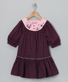 Take a look at this Burgundy Jasmine Drop-Waist Dress - Toddler & Girls by Baby Nay on #zulily today!