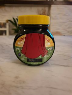 Marmite Supermite YellowTop Edition This is not an official Marmite product, item is handmade. Unopened jar contains marmite Marmite, Jar, Handmade, Hand Made, Jars, Craft, Glass