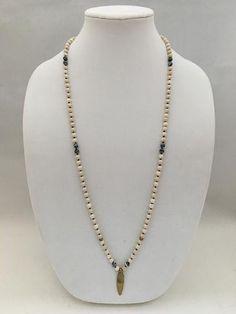 Riverstone & Black Lace Malachite Necklace
