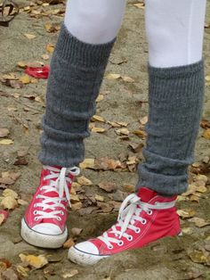 Leg warmers and sneakers