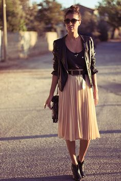 Sissy à la mode: Falda midi y perfecto // Midi skirt and perfecto