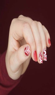 66 awesome red nail arts for fair hands 2019 Latest Nail Designs, Latest Nail Art, Pretty Nail Designs, Red Nail Art, Red Nails, Easy Nail Art, Cool Nail Art, Nail Arts, Pretty Nails