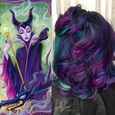 capelli ispirati a maleficent