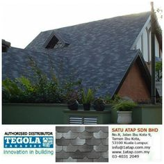 Tegola Shingle Premium Liberty with great aesthetic value. 100% from italy.  How complexity your design, tegola shingle roofing always gives 3 benefits.  * Enhance beauty. * Zero leaking with warranty. * Increase property value.  Tegola the only fashionable roof for life.  ☎ 03-4031 9455  📲 whatsapp 019-656 0961 💻 www.1atap.com.my/tegola