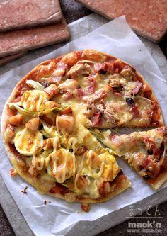 披薩食譜,點心食譜-免發酵披薩簡單 half&half Topping