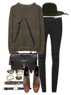 """Untitled #7776"" by nikka-phillips ❤ liked on Polyvore featuring rag & bone, Yves Saint Laurent, Brixton, Daniel Wellington, Acne Studios, Proenza Schouler, Mudd and H&M"