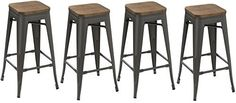 Metal Bar Stools – Modern Bright Style Stackable Studio Stool (Set of 4) Best choice for office, party, or any occasion. Stackable and sturdy set of Four (4) bar stools made of 100 percent steel and clear coating and non-mar foot glides. Made specially in 30-inch height fully assembled and... see more details at https://bestselleroutlets.com/home-kitchen/furniture/game-recreation-room-furniture/product-review-for-btexpert-30-inch-industrial-metal-vintage-stackable-antiq