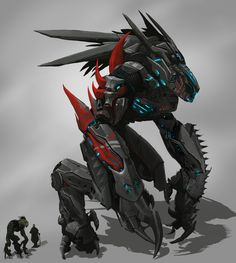 Jura Mech Battle Suit by Ryonok on DeviantArt Robot Concept Art, Creature Concept Art, Armor Concept, Weapon Concept Art, Creature Design, Gundam, Space Opera, Robot Animal, Arte Robot