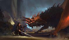 Olmedo, Alejandro - Knight & Dragon (Alex-Olmedo- DeviantArt)