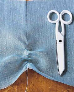 Embroidery Scissors -   Have two pairs of scissors that are used solely for sewing -- the larger for trimming fabric, the smaller for snipping threads.