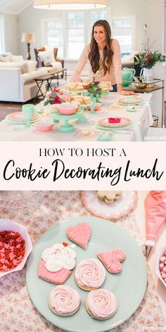 How To Host a Cookie Decorating Lunch How To Host a Cookie Decorating Lunch Tammy Pugh tlespiritu DIY How to Host a Cookie Decorating Ladies Lunch Birthday Cake For Women Simple, Kindergarten Lunch, Jenny Cookies, Cookie Decorating Party, Party Themes, Party Ideas, Party Fun, Spa Party, Ladies Lunch