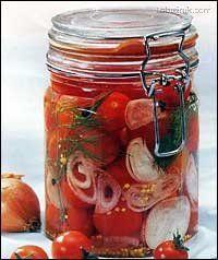 Nakládaná cherry rajčátka Vegetarian Recipes Easy, Healthy Recipes, Fermented Foods, Pesto, Pickles, Food To Make, Meal Prep, Herbalism, Good Food