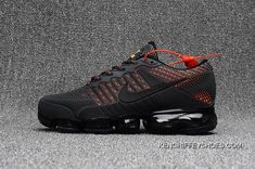 Men's Nike Air Vapormax Flyknit 2018 Anthracite Grey Orange New Style Nike Lebron, Baskets Nike, Jeans And Sneakers, Air Max Sneakers, Shoes Sneakers, Sneakers Fashion, Nike Air Vapormax, Mens Nike Air, Nike Men
