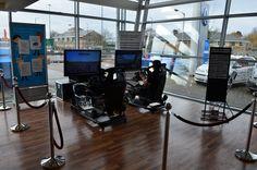 Racing Simulators at Tesco Car Wash Promo Event