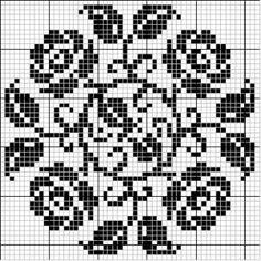Round 27 | Free chart for cross-stitch, filet crochet | Chart for pattern - Gráfico