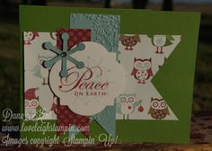 Stampin' Up! Owls & Flags Christmas Card