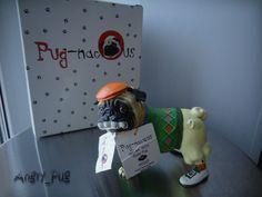 NEW Pugnacious Putter Pug Rare HTF Resin Figurine Westland Giftware Pug-Nacious