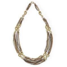 Tinley Road Four Tone Multi Chain Necklace ($44) ❤ liked on Polyvore