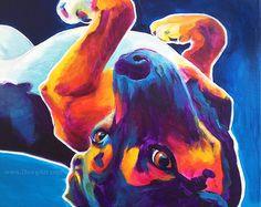Beagle Pet Portrait Beagle Art DawgArt Dog Art Pet von dawgpainter