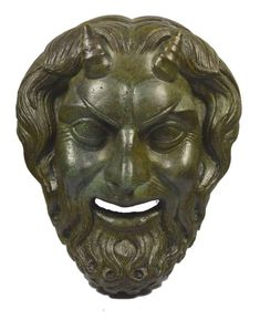 Bronze mask of Pan, Panas God of Nature and the wild