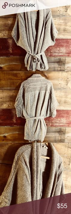 "Anthropologie Moth oversized alpaca wrap cardigan Excellent cond. no percievable flaws, 55%alpaca/25%wool/20%polyamide, a substantial abundance of sweater softness. I like the hand pocket to stash a chapstick and phone (heck, even a mass market book), falls a few inches above my knee at 5'9"", length 36.5ish"" Anthropologie Sweaters Cardigans"