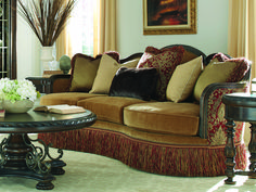 A masterpiece for your sitting room, the A. Furniture Giovanna Caramel Sofa pairs decadent caramel chenille fabric with a scarlet and caramel. Furniture, Living Room Furniture, Home Furniture, Sofa, Gold Sofa, Home Decor, Repurposed Furniture, Best Sofa, Victorian Furniture
