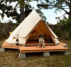 Simple wood platform on cinder blocks...backyard yurt/tent/structure base or deck.