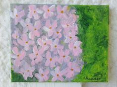 Abstract floral in acrylic on canvas. 8x10 inches.