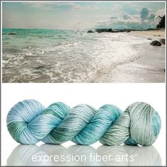 SEA BREEZE 'LUSTER' SUPERWASH MERINO TENCEL WORSTED YARN by expression fiber arts