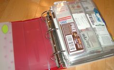 Coupon Binder - Organize your coupons in a three-ring binder with baseball card pages.