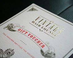 VHL gift voucher by Cassie Leedham, via Behance