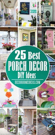 25 Charming DIY Porch Decor Ideas for Seasonal Curb Appeal | Decor Home Ideas Diy Porch, Porch Ideas, Yard Ideas, Recycled Garden Art, Outdoor Living, Outdoor Decor, Outdoor Spaces, Corner Garden, Patio Lighting