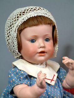 "Hilda's Little Sister 17"" Kestner Character Baby 247 Antique Doll from kathylibratysantiques on Ruby Lane"