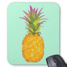Pineapple - Mint Tropical Mousepad