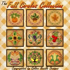 Fall Circles Machine Embroidery Designs
