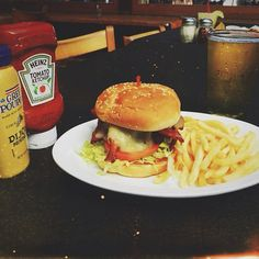 Hump day treat! $5.95 #burger or chicken sandwich paired with a $3 #beer !! #sandiego #pb #food #bar #beach #instagood