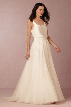 BHLDN In Perpetuity Camisole & Amora Skirt in Bride Wedding Dresses at BHLDN