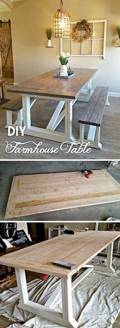 Check out the tutorial how to build a #DIY #farmhouse dining table #HomeDecorIdeas @istandarddesign