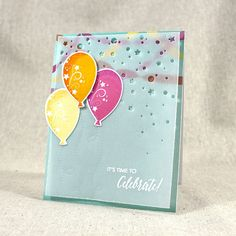 Time To Celebrate Card by Lizzie Jones for Papertrey Ink (June 2015)