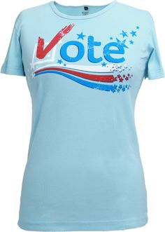 Don't forget to vote! Rock our NEW Vote Tee, available now at Green 3…