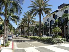 Rodeo Drive, Beverly Hills, California, a shopper's paradise with stores from around the world. Some stores require a credit check before you're allowed to enter.