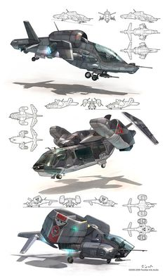 VTOL concepts by *Jett0 on deviantART