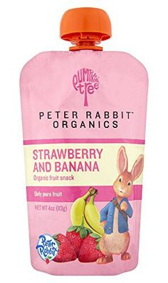 Peter Rabbit Organics, Organic Strawberry and Banana 100% Pure Fruit Snack, 4.0-Ounces Pouches, (Pack of 10) - http://goodvibeorganics.com/peter-rabbit-organics-organic-strawberry-and-banana-100-pure-fruit-snack-4-0-ounces-pouches-pack-of-10/