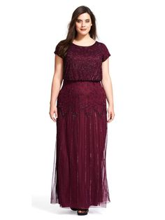 Bridesmaid Dresses Plus Size, Plus Size Dresses, Bridesmaids, Vestidos Color Vino, Mother Of The Bride Gown, Beaded Gown, Plus Size Womens Clothing, Trendy Clothing, Adrianna Papell