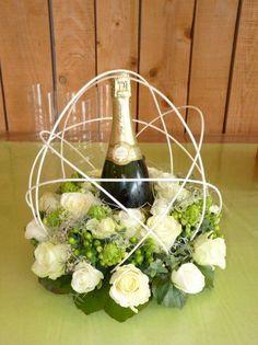 Fleur autour du champagne